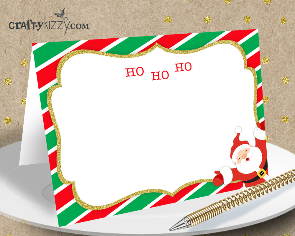 Christmas Holiday Table Tents