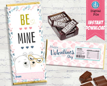 cute be mine bear valentine candy wrappers