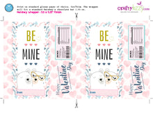 Valentine's Hershey Bar Candy Wrappers Labels