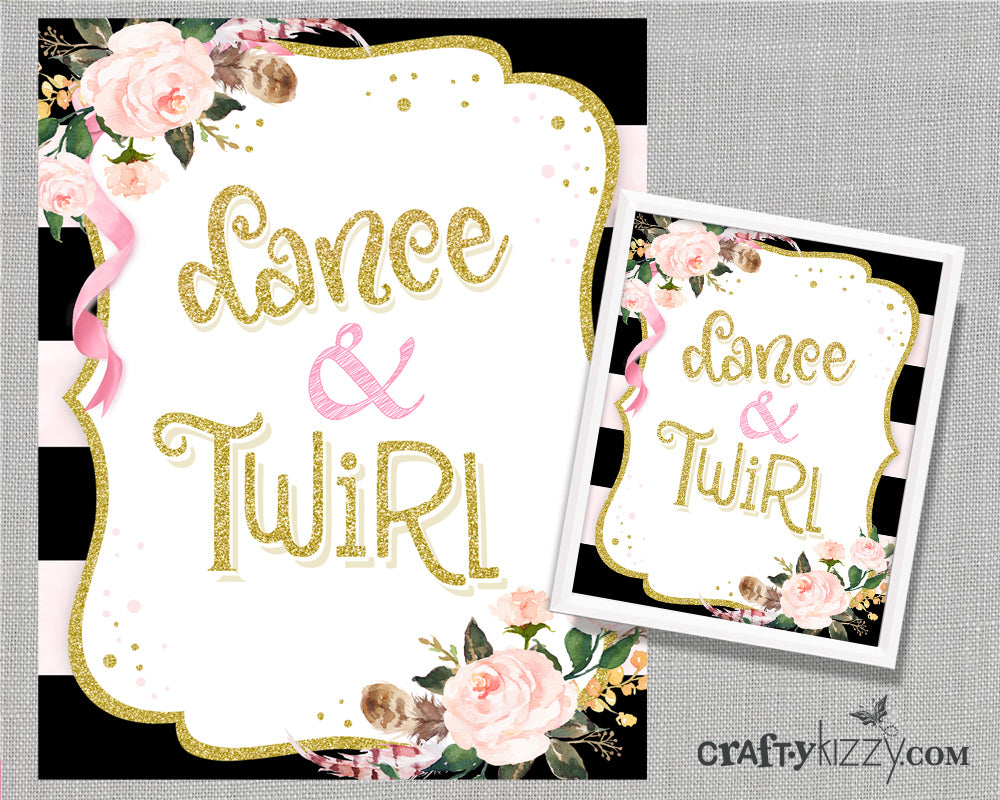dance and twirl ballet art print