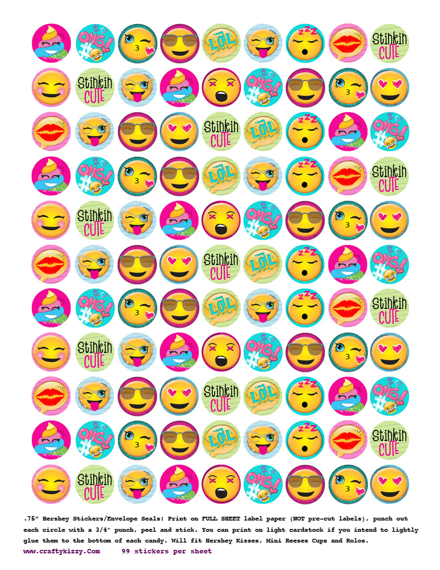 Emoji Birthday Party Favors