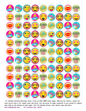 emoji birthday party favors - labels - stickers - DIY