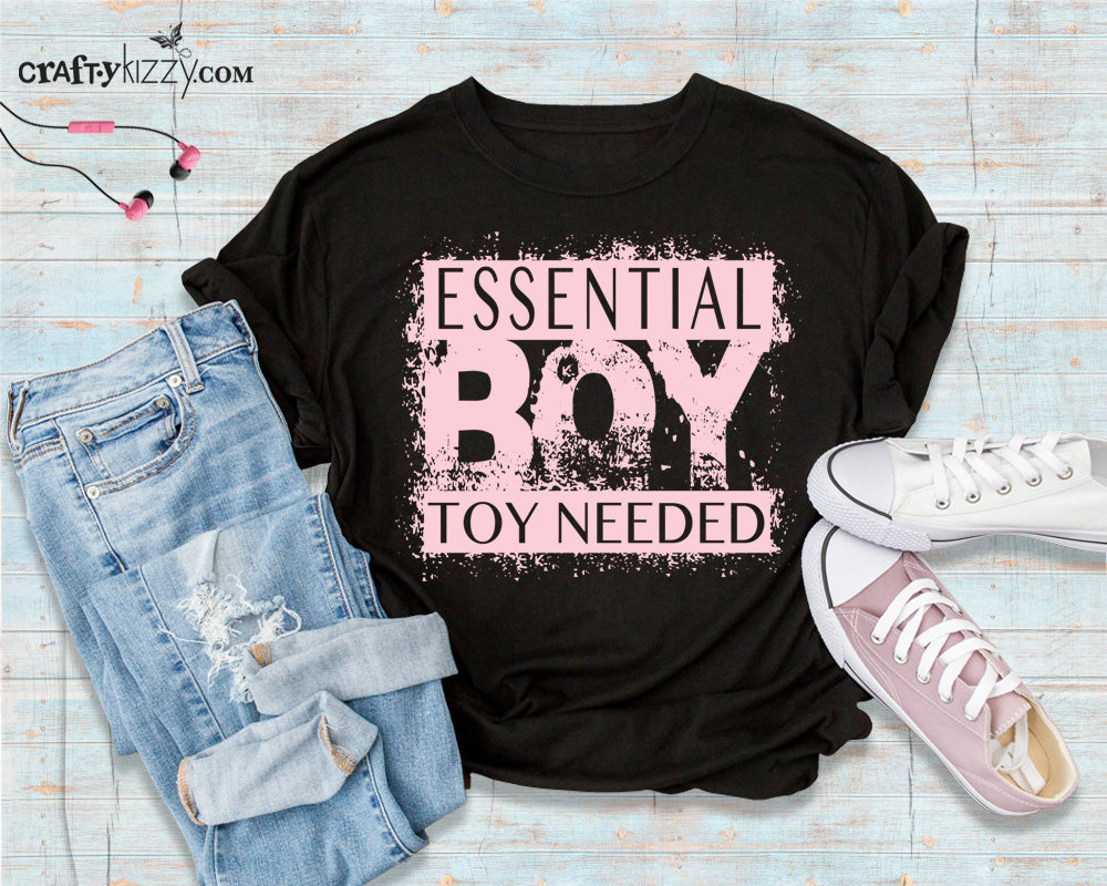 Women's Essential BOY TOY Humor Tshirt - Funny Quarantine Pun T-shirt - Single Ladies Shirt Gift Ideas - Pandemic 2020 Tee Shirts - CraftyKizzy
