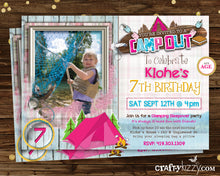 ofishally girls campout invitations seepover