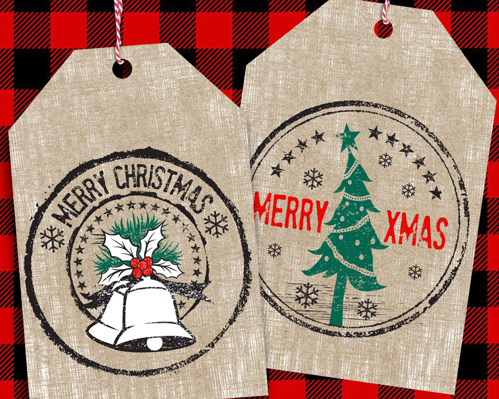 Christmas Gift Tags Diy.Vintage Diy Christmas Gift Tags Printable Rustic Holiday Favor Tags Party Favor Tag Instant Download