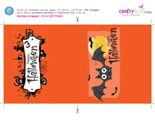 Halloween Chocolate Bar Wrapper Printable Favors - Happy Halloween Hershey's Bar Label - Classroom Trick or Treat Favor - INSTANT DOWNLOAD