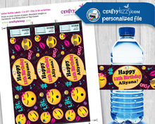 Emoji Personalized DIY water bottle labes
