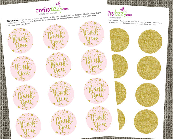 photograph about Baby Shower Tags Printable titled Crimson Gold Glitter Confetti Thank On your own Choose Tags - Child or Bridal Shower Favors Marriage Tags 2 inch Circles - Immediate Obtain