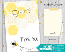 Baby shower bee thank you card