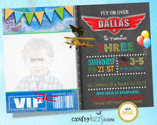 Airplane Birthday Invitation Boy Planes Invite - First Second Third Birthday Invitation Time Flies Plane Invitation - CraftyKizzy