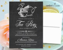 Tea Party Birthday Invitations - Adult Birthday Party Invitations - 30Th 40TH 50TH 60TH Surprise Invitation - CraftyKizzy
