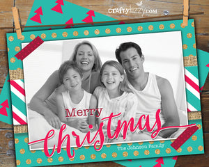 Christmas Photo Greeting Card - Merry Christmas Holiday Photo Card - Photo Cards  Personalized - CraftyKizzy