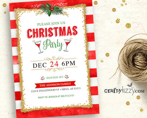 photo about Printable Holiday Invitations known as Xmas Bash Invitation Printable - Trip Invites