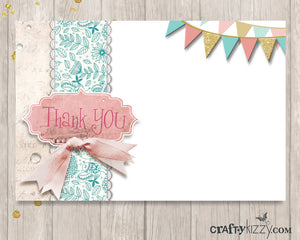 Shabby Chic Vintage thank you card
