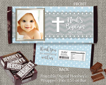 Baptism Candy Wrapper Label Baby Boy