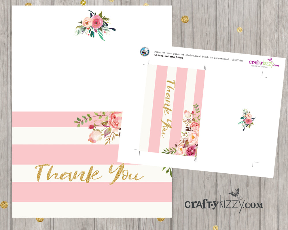 photo about Baby Shower Card Printable identify Marriage ceremony Thank Yourself Playing cards Printable Bridal Shower Card - Watercolor Bouquets - Crimson and Gold - Quick Down load