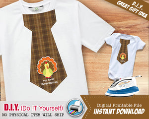 First Thanksgiving Boy Fall Tie Iron On Shirt 1st Thanksgiving Tie - Little Man Tie - Boho Hipster Iron Ons - INSTANT DOWNLOAD - CraftyKizzy