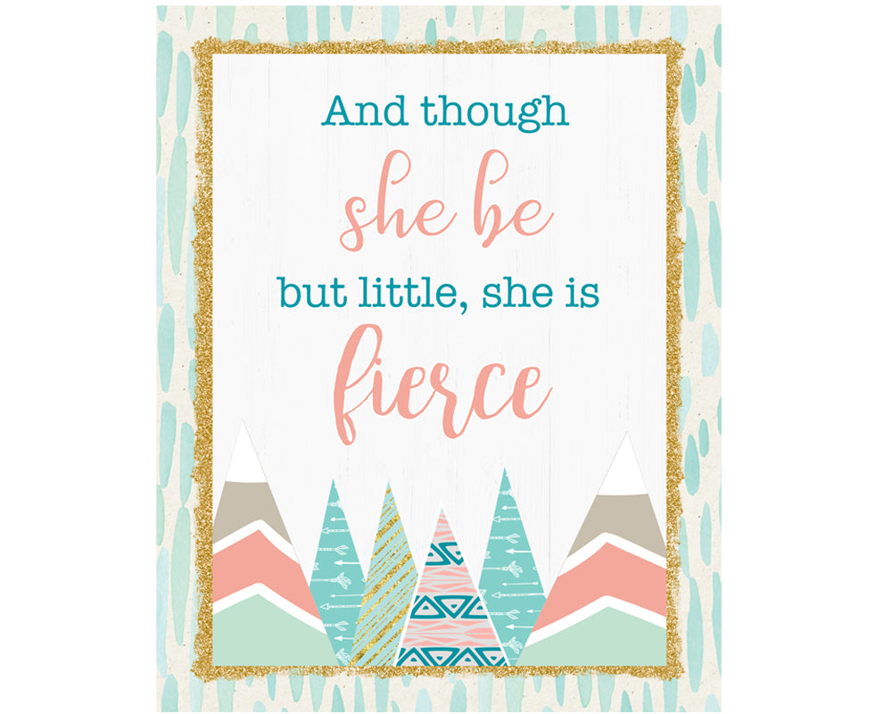 Woodland Art Print - And Though She Be But Little She Be Fierce - Digital Wall Decor - INSTANT DOWNLOAD - CraftyKizzy