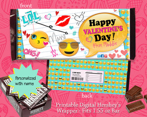 Valentine's Day Candy Bar Wrapper - Girls Valentine Party Favor - Candy Gram Classroom Favor Label INSTANT DOWNLOAD