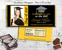 Graduation Hershey Candy Bar Wrapper Personalized