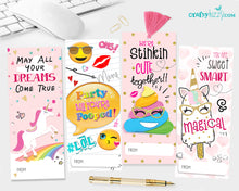 Cute Girls Valentine's Candy Bar Wrappers Alien Valentine Party Favor - Candy Gram Favor Label - INSTANT DOWNLOAD
