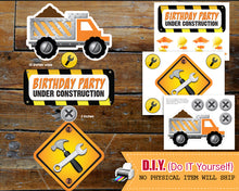 Dump Everything Boy Construction Birthday Invitation - Construction Birthday Party - Under Construction Invitations - CraftyKizzy