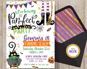 Halloween Birthday Party Invitation Fun Halloween Party Invitations - Halloween Party Printable - CraftyKizzy