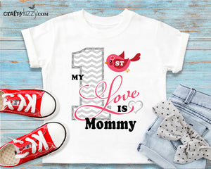 My First Love is Mommy Tshirt - Mommy Love T-shirt - Girls Mothers Day Outfit - I Love Mommy Shirt for Kids - Gift Idea Shirts