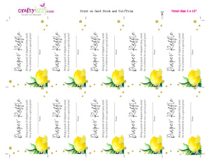 Gender Neutral Diaper Raffle Ticket Lemons - Baby Shower Diaper Raffle Game Citrus - Lemon Wedge Diaper Raffle Insert - INSTANT DOWNLOAD