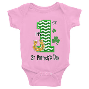 Infant My First St Patrick's Day Shirt - Bodysuit - Unisex - Girls & Boys - St Patricks T-shirt Sizes NB-24M