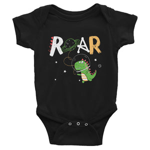 Dinosaur Astronaut Infant Bodysuit - Baby Boy Outfit - Dino One Piece Shirt - Baby Shower Gift - Boy 6M-24M - CraftyKizzy