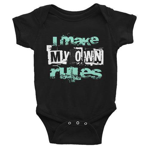 Infant Attitude Shirt - I Make My Own Rules Bodysuit - Funny Shirt Clothing Romper Sizes NB-24M