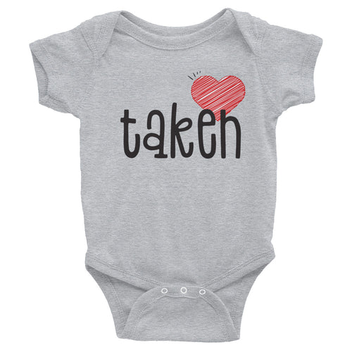Infant Taken Bodysuit - Boy Girl Romper - Baby Onesie Shirt - Valentines Gift Sizes NB-24M