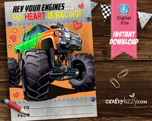 Grave Digger Valentine's for school