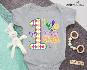Mardi Gras Bodysuit - My First Mardi Gras Girl Boy Shirt - Baby Boy Mardi Gras Outfit - Celebratory Shirts - Toddler Tshirts
