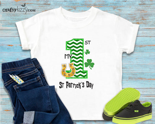 My first saint pattys tshirt