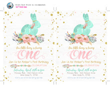 Bunny 1st First Birthday Invitation - Boho Girl Easter Invitations - Some Bunny is One - Printable Floral Invitations - CraftyKizzy