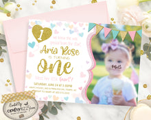 Heart First Birthday Invitations - Sweetheart Printable Valentines Day Invitation - Colorful Heart 2nd Birthday Invitation - Bless her little heart - CraftyKizzy