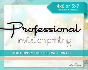 RUSH My Invitation Print Order - Add on Item for Professional Printing Orders - Expedited Print Process Time