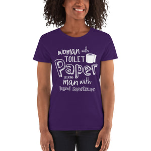 Women's Toilet Paper Humor Tshirt - Funny Toilet Paper Pun Shirts - TP Crises T-Shirt Gift - Womens Pandemic Tee - Mothers Day Gift Shirt - CraftyKizzy