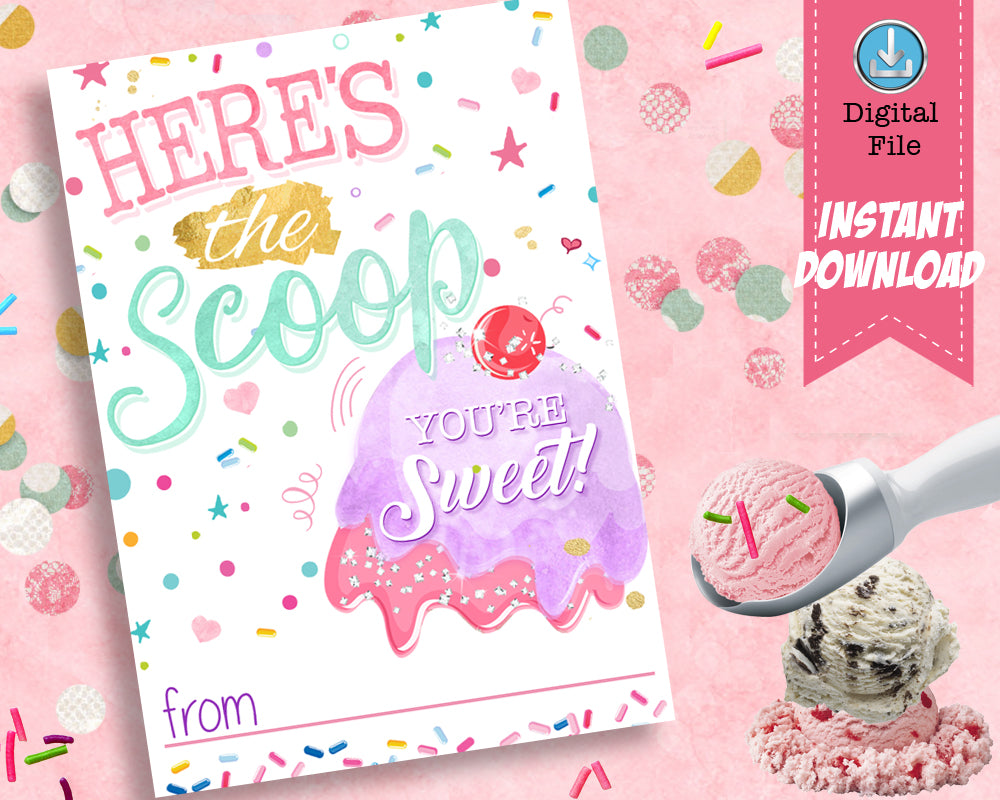 Ice Cream Valentines Cards