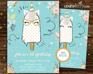 Girls Unicorn Valentines Day Cards - Girl Ice Cream Valentine's Day Card Classroom Printable Cards - INSTANT DOWNLOAD - CraftyKizzy