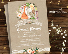 unisex fox baby shower invitation