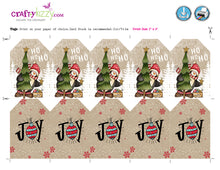 Rustic Christmas Gift Tags - Vintage Holiday Favor Tag - Party Favor Labels - INSTANT DOWNLOAD