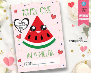watermelon valentine puns - gift cards