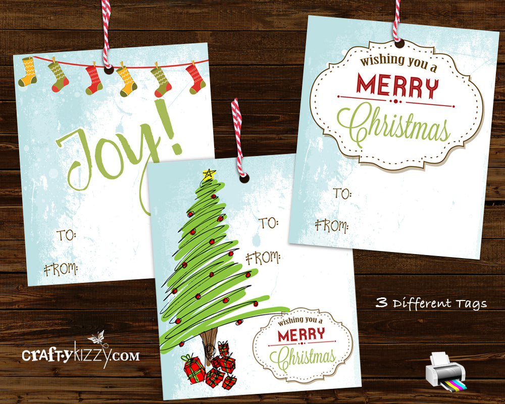 This is a photo of Vibrant Vintage Christmas Gift Labels