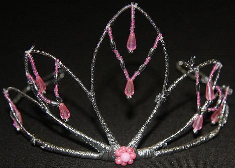 CROWN TIARA WREATH GARLAND VEILS HEADPIECE