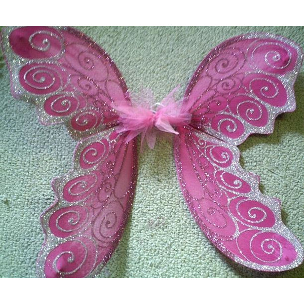 Adult Size Large Fairy Wings Hot pink Silver Custom handmade  fairy factory
