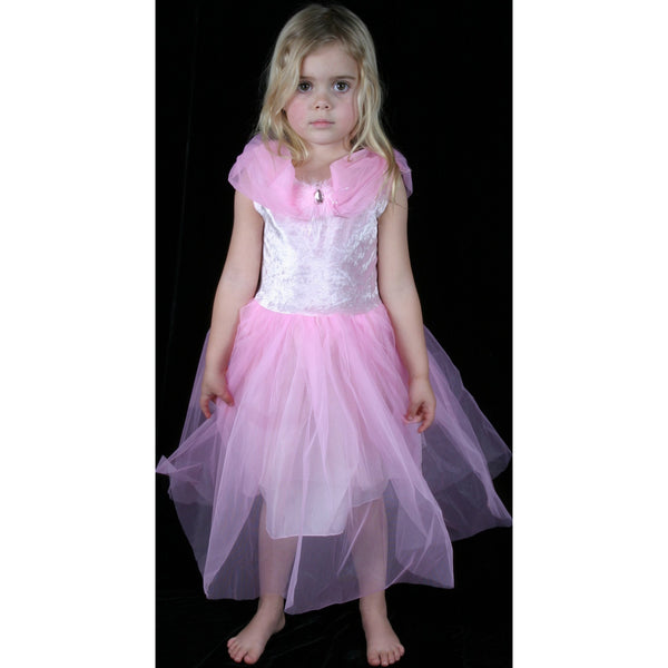 Soft Pink Stretch Velvet Dress opera ballet gown frock flower girl