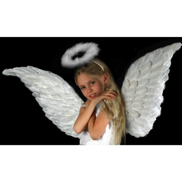 Extra Large Angel Wings White Feather